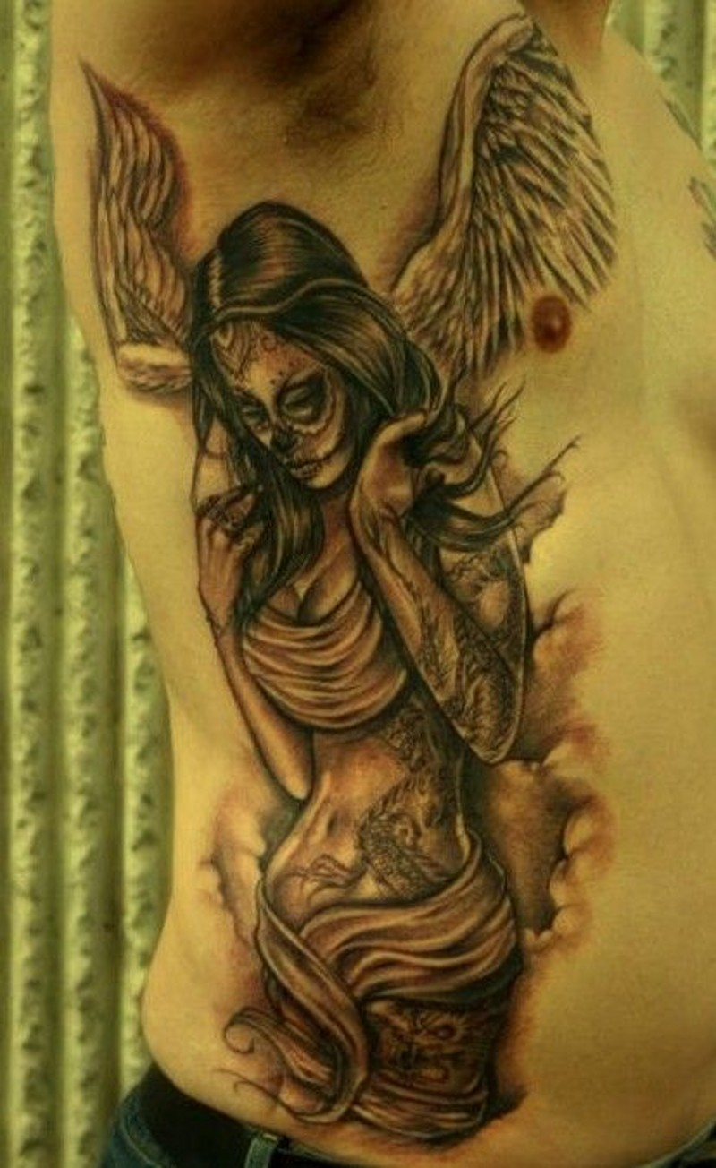 Cool angel tattoos disign part 3 for Sexy angel tattoo